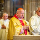 Emeritní krakovský arcibiskup Stanislaw kardinál Dziwisz.