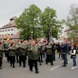 Pochod městem vedl Městský dechový orchestr z města Gödöllö.
