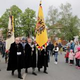 Členové Řádu sv. Jiří, evropského řádu Domu Habsbursko-Lotrinského, ČR, vlevo bývalý ministr kultury Daniel Herman.