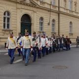 Pochod Brandýsem  z nádraží na zámek 1.