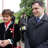 Brandýská zastupitelka a bývalá poslankyně Nina Nováková a europoslanec Tomáš Zdechovský.