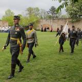 Nástup vojenských historických jednotek v zámecké zahradě Rudolfa II.