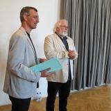 Zahájení výstavy její autor Jan Drocár. Ten přítomné seznámil s celým projektem, který byl zahájen v roce 2012 na Potštejně.