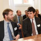 Vlevo Vladimír dědičný princ Lobkowicz a Václav hrabě Bořek-Dohalský