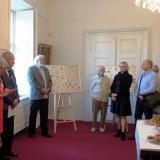 Návštěvníky krátce přivítal autor výstavy Jan Drocár.