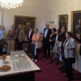 Zahájení výstavy proběhlo v jednom ze sálů zámecké galerie.