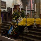 Rakev se zesnulým Arnoštem hrabětem Waldsteinem, pánem na Wartenbergu.