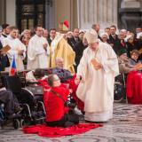 Mše svaté se zúčastnili také nemocní a handicapovaní